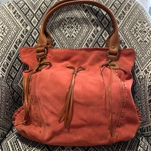 Suede Lucky Brand Tote Bag